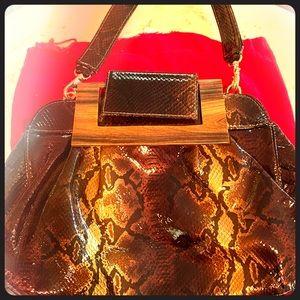 Zina Eva Alligator Bag